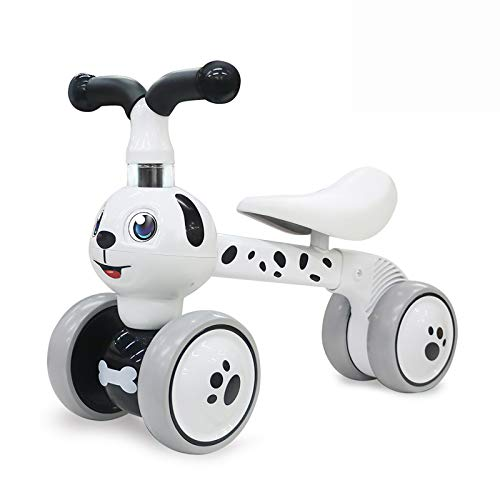 YGJT Baby Balance Bikes Bicycle Kids Toys Riding Toy for 1 Year Boys Girls 10-36 Months Baby s First Bike First Birthday Gift (Spotty Dog)