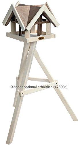 """Luxus-Vogelhaus 47880e Aufwendiges Vogelhaus im """"Antikfinish""""-Design (gescratcht) aus lasiertem Kiefernholz mit 4 Giebeln, braun/weiß - 3"""