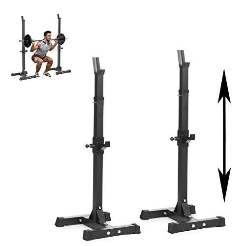 HT&PJ Soporte ajustable para mancuernas de Squat Rack, adecuado para la mayoría de las personas, para entrenar los abdominales, los músculos del pecho, etc. (negro)