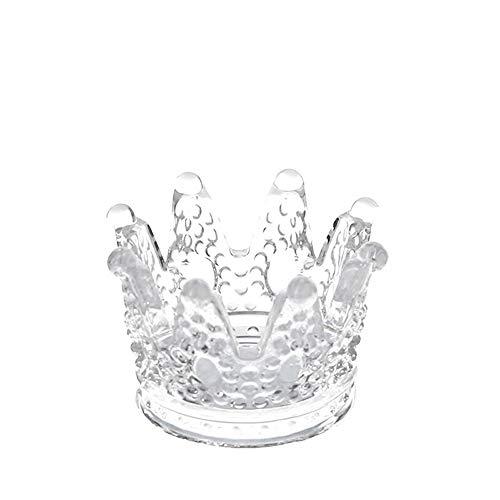 Asbak kristal glas asbak - glas asbak voor huis/decoratie/kantoor/studie/woonkamer/decoraties, enz. Glazen kaarsenhouder Wit-7.8x5CM