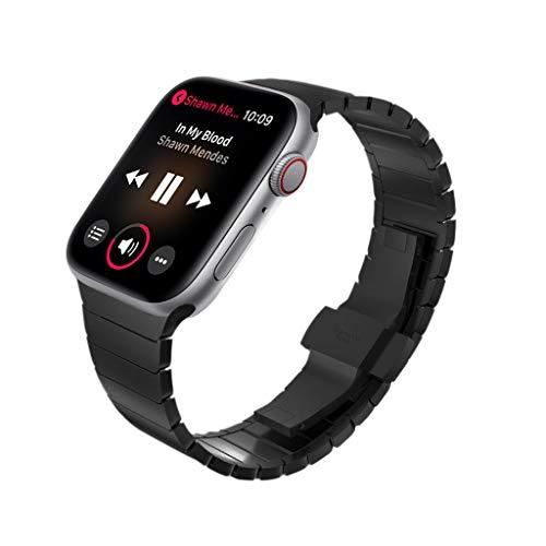 KADES Cinturino in acciaio inossidabile compatibile per i Watch Serie 4 Serie 5 44mm, bracciale collegamento compatibile per i Watch Serie 1,2,3 42mm, Nero