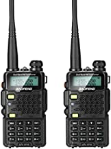 BAOFENG 2 Pack UV-5R5 5-Watt Dual Band Two-Way Radio (144-148MHz VHF & 420-450MHz UHF) Includes Full Kit with Large Battery