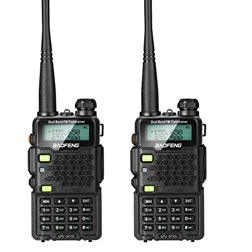 BAOFENG 2 Pack UV-5R5 5-Watt Dual Band Two-Way Radio (136-174MHz VHF & 400-520MHz UHF) Includes Full Kit with Large Battery. Buy it now for 59.99