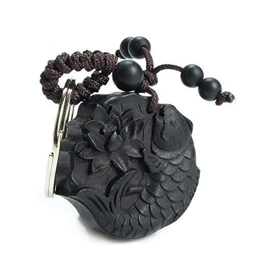 ZMKW The Carp Ebony Car/Bag/Purse Key Ring Pendant Key Chain Amulet Pendant