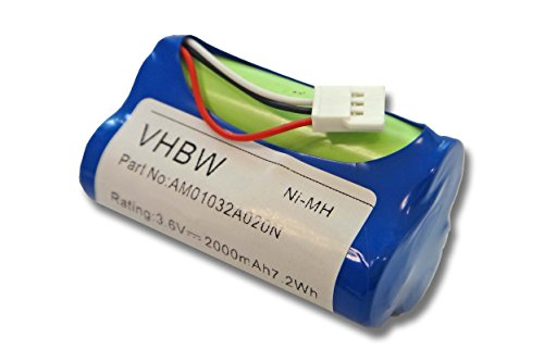 vhbw Akku passend für Logitech Z515 (980-000427) Lautsprecher Boxen Speaker (2000mAh, 3,6V, NiMH)