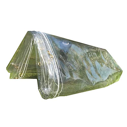 LIANGJUN Bâche De Protection Transmission La Lumière Imperméable Épaississez Anti-poussière Facile À Transporter l'environnement,5 Tailles (Couleur : Clair, Taille : 1.7mx1.8m)