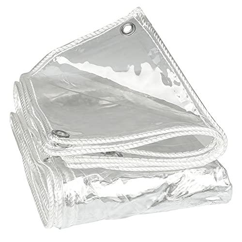 Toldo Transparente,Lona Transparente Toldo de PVC Impermeable con Ojale,Lonas Impermeable Resistente,0.3mm Lona Impermeable Pergola,para Plantas De Jardín De Patio Al Aire Libre(Size: 1x1m(3.9x3.9ft)