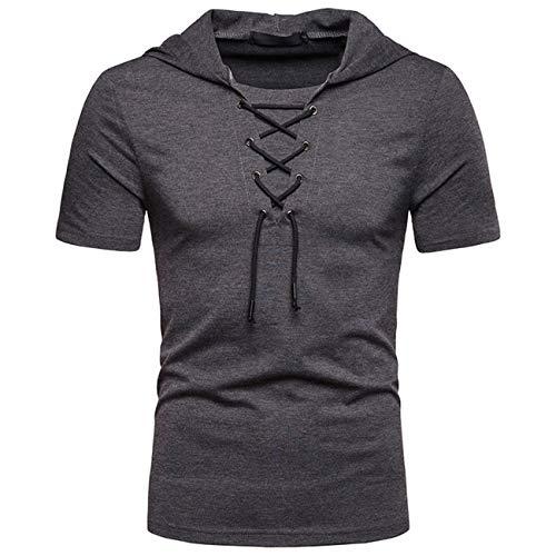 Heren string design pure kleur met korte mouwen vrije tijd en mode designer mod polo shirt