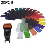 Xiaosong 20 PCS Sigi SG200 de 12 Colores Filtrar Set Top cámara Flash Accesorios Temperatura del Filtro.