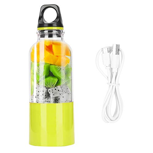 500 ml Usb Rechargeable Electric Juicer, Portable Vegetable Juice Automatic Tool, Electric Fruit Cup for Home Office Travel(Fruit vert)