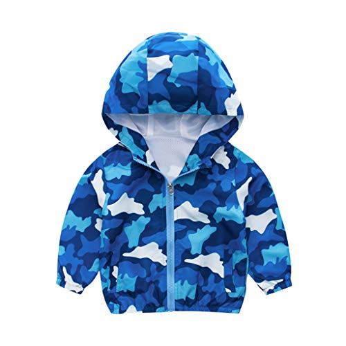 HDUFGJ Unisex - Kinder Dinosaurier drucken Softshelljacke Mit Kapuze Jacke Übergangsjacke Steppjacke Wasserfeste Winddicht Mantel Windbreaker Outdoor Zip Hoodie Regenjacke Freizeit