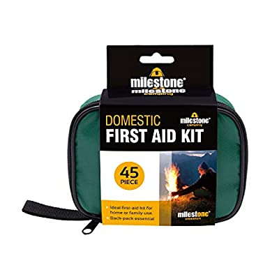 Milestone Camping Emergency First Aid Kit ~ Compact ~ Green ~ 96940,One Size by Milestone Camping