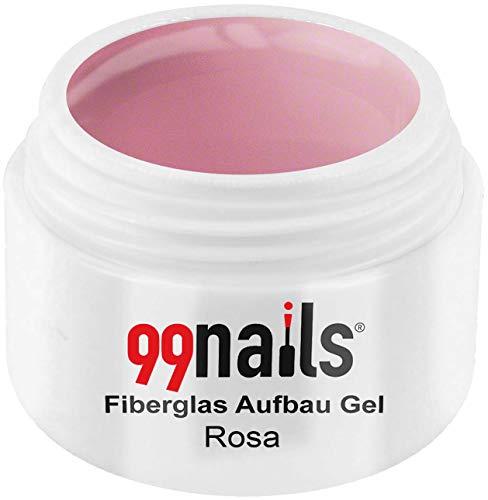 99 Nails fibre de verre structure Gel – Rose, 1er Pack (1 x 5 ml)