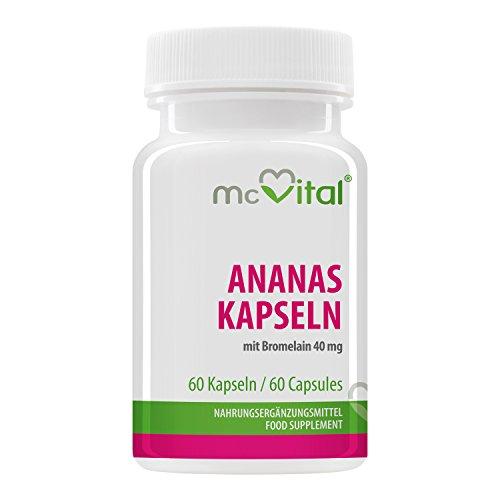 Ananas Bromelain Enzym Kapseln - mit Bromelain 40 mg - 60 Kapseln