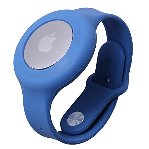 AirBud AirTag Wristband Designed for Children   Compatible with Apple AirTag   Ages 1-12   Anti-Loss GPS Locator Bracelet   Lightweight Watch Band for Kids, Toddlers, Boys, and Girls (Blue)