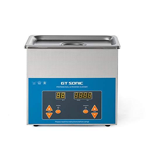 lavatrice ultrasuoni 3l 3L Pulitore ad Ultrasuoni Digitale Dispositivo di Pulizia con Serbatoio in Acciaio Inossidabile e Schermo Retroilluminato LCD per Occhiali
