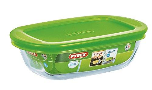 Pyrex Transparent Rectangular Dish With Lid, 0.4L