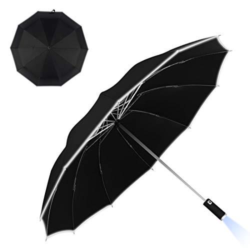 ombrello portatile xiaomi Ombrello Portatile Automatico Antivento con Luce LED