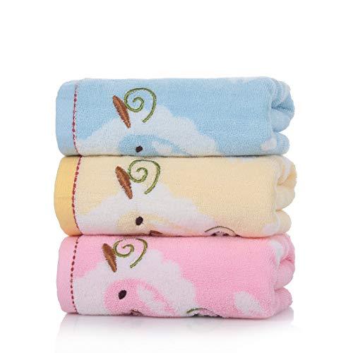 WLEYYY handdoek katoenen borduurwerk karikatuur dier klem kind-baby absorberende washanddoek
