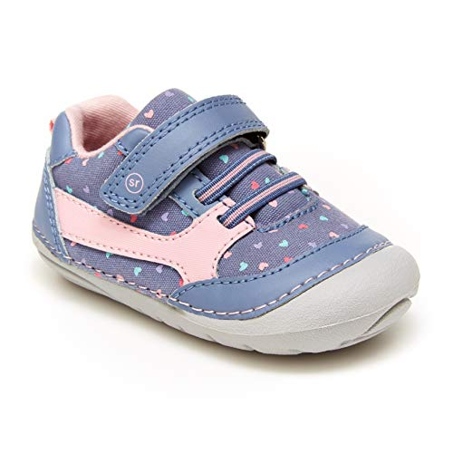 Stride Rite baby girls Soft Motion Kylin Sneaker, Chambray, 3.5 Infant US