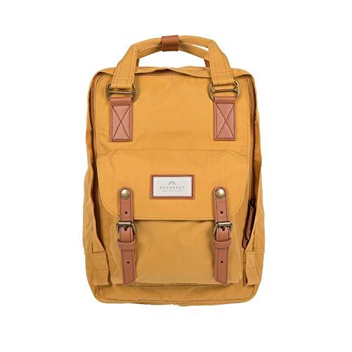 Doughnut - Mochila - Modelo Macaroon - Tamaño Medio - Práctica - Fácil de Transportar - Diseño Moderno - Mochila Escolar - Mochila Portátil - Mochila Mujer - Mochila Hombre - Color Amarillo