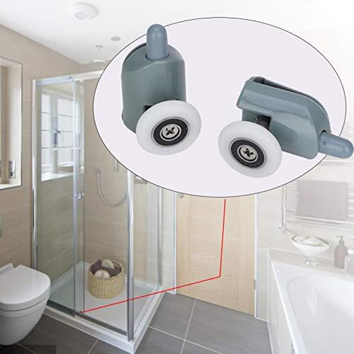 FOLOSAFENAR Rodillos confiables de bajo Ruido para Puertas de Ducha, poleas, 4 Rodillos Inferiores, para baño, para el hogar(Single Wheel)