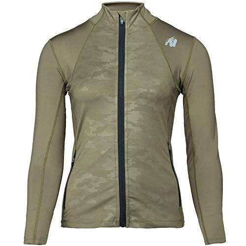 GORILLA WEAR Savannah Jacket - Bodybuilding und Fitness Jacke für Damen, grün, S