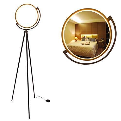 Syrinx Eclipse LED Floor Lamp, Modern Tripod LED Floor Lamp LED Ring Light for Living Rooms, Bedroom, Dorm Room, Office