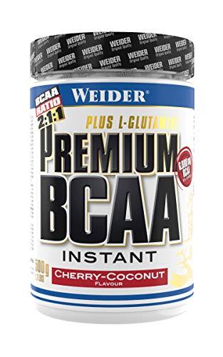 Weider Premium BCAA Instant Aminosäuren Pulver + Glutamin & Vitamin B6, Kirsch-Kokos, 500 g