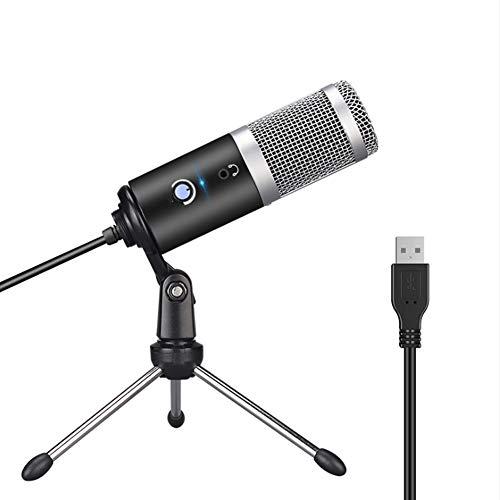YPJKHM Micrófono de computadora USB Reproducir micrófono de Chat de Grupo de Voz en Vivo, micrófono de Karaoke de Mano