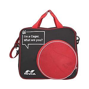 Nivia Game Bag-Black/RED