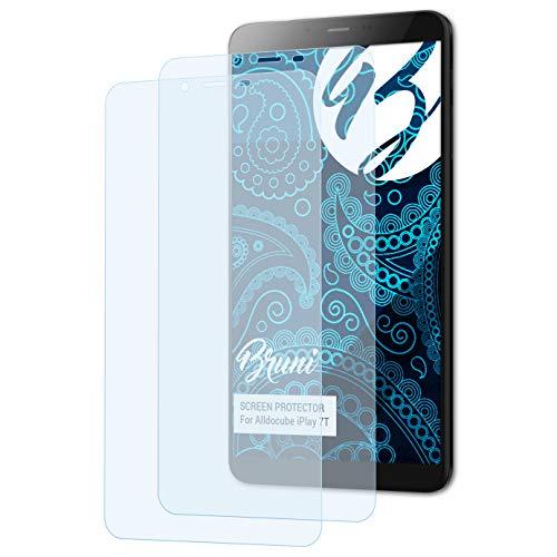 Bruni Película Protectora Compatible con Alldocube iPlay 7T Protector Película, Claro Lámina Protectora (2X)