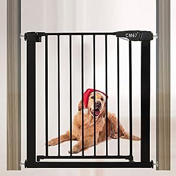 Barriere de Securite Retractable Extensible Auto Close Barriere Extensible pour Chien Barriere chien sans Percage Pour Portes Escaliers Couloirs