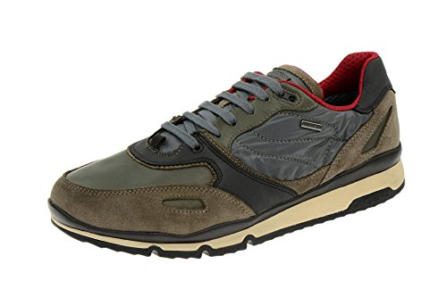 Geox Sandro ABX Herrenschuhe Freizeit Halbschuhe Sneakers grau beige Wasserdicht