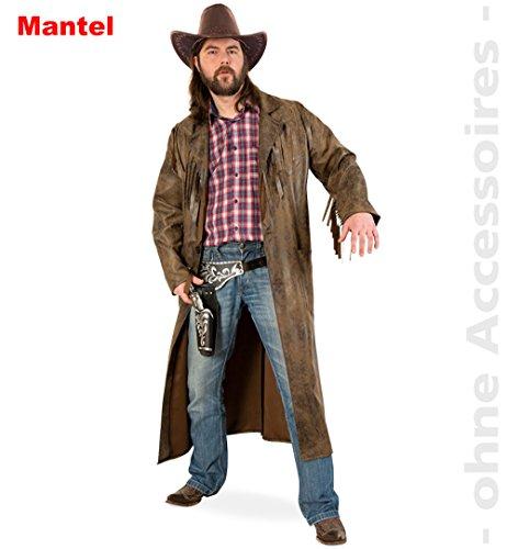 Gurimotex NEU Herren-Kostüm Westernmantel, Gr. L, braun