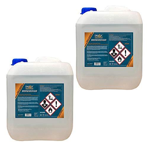 INOX® Bremsenreiniger, acetonfreier Bremsscheibenreiniger für KFZ - 2 x 5 Liter