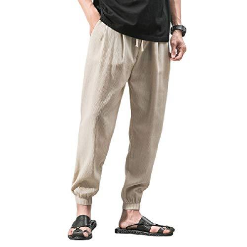 Katenyl Einfarbige Haremshosen für Herren in Übergröße Mode Einfachheit Einfachheit Bequeme All-Match Trend Relaxed Freizeithose L