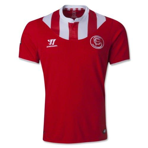 Sevilla Away 2013/14S/S camiseta de fútbol Alto Riesgo Rojo Rojo rosso X-Large
