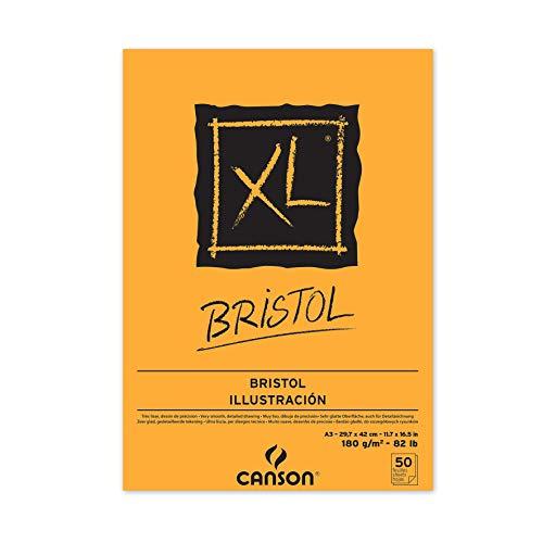 CANSON XL® Bristol, Bristolblock, DIN A3, 50 Blatt, 180 g/m²