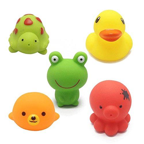 Juguetes de baño, Chickwin Bebé de los animales 5pcs que baña los juguetes de...