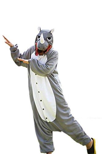 Unisex Animal Cosplay Disfraz Rinoceronte Pijamas Adulto Animal Disfraz Adulto Nio
