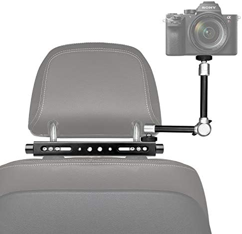3in1 Heavy Duty Car Headrest DSLR Camcorder Action Camera Smartphone Holder Mount Expansion product image
