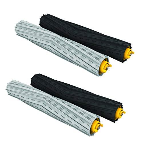 MIRTUX Reemplazo de 2 Pack de Rodillos extractores Compatible con Roomba con 800 y 900. Kit de Cepillo Central de Goma
