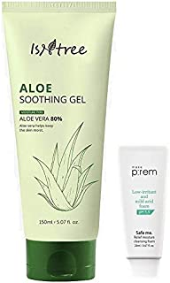 ISNTREE Aloe Soothing Gel Moisture Rich Type 80% Aloe Vera Extracts 5.07 Fl Oz Moisturizing Essence for Dry, Sensitive Skin   Hypoallergenic, Reduces Redness & Acne, Breakouts   Korean Skincare