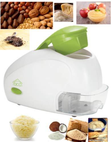 Elektrische Reibe für Käse, Nüsse, Obst, hartes Brot etc. 250 W Behälter herausnehmbar Rolle