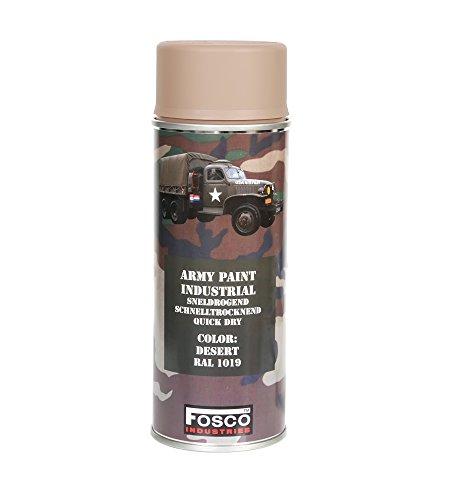 PINTURA Monstercolors ejército 400 ml para el desierto RAL 1019 vehículo Militar pintura para paintball diseño de camuflaje