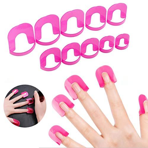 26 plantillas de barrera para uñas, ideales para manicura o polish, protectores reusables