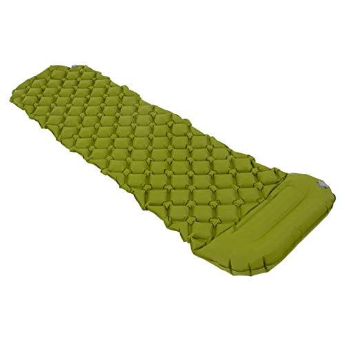 1 alfombrilla de camping inflable para dormir con almohada para viajes, senderismo, mochila ligera