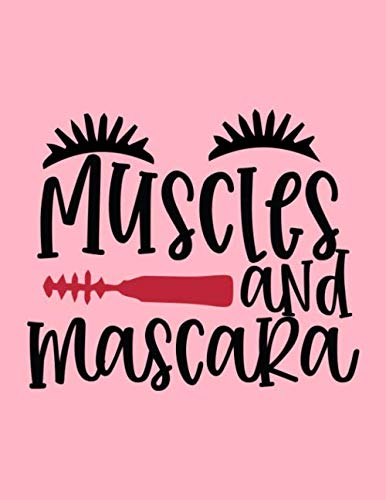 Muscles And Mascara Design: Makeup Chart Practice Paper, Perfect Makeup Artist Face Charts Or Blank...
