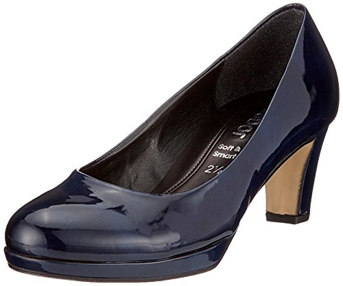 Gabor Shoes Damen Fashion Pumps, Blau (Marine Natur), 38 EU